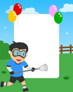 Lacrosse Boy Photo Frame Stock Images