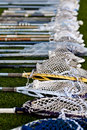 Lacrosse Heads on the Ground Royalty Free Stock Photos