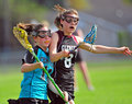 Lacrosse non contact sport Royalty Free Stock Photo