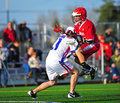 Lacrosse push Stock Photography