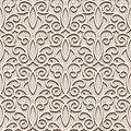 Lacy beige pattern seamless vintage ornamental background Stock Image