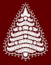 Lacy christmas tree illustration Stock Photos