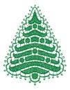 Lacy christmas tree illustration Royalty Free Stock Photos