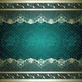 Lacy design with dark green background Royalty Free Stock Photography