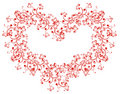 Lacy heart. Vector illustration Stock Photography