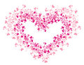 Lacy heart. Vector illustration Royalty Free Stock Photography