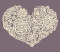 Lacy heart a in vintage look for you greeting cards invitations backgrounds Royalty Free Stock Photos