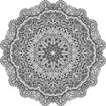 Lacy ornate vector black napkin on white background Stock Image