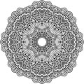Lacy ornate vector black napkin on white background Royalty Free Stock Photos