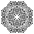 Lacy ornate vector black napkin on white background Stock Images