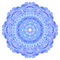 Lacy ornate vector blue napkin on white background Royalty Free Stock Image