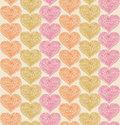 Lacy pattern with hearts decorative background seamless Stock Photography