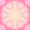 Lacy pink ornate seamless pattern napkin vector Royalty Free Stock Image