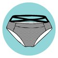 Lacy sexy vector panty illustration Royalty Free Stock Images