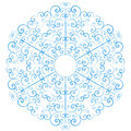 Lacy snowflake isolated on white background Stock Photography