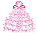 Lacy wedding cake. Vector  Royalty Free Stock Images