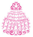 Lacy wedding cake. Vector  Stock Images