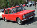 Lada old car at spring retro parade in bucharest romania Royalty Free Stock Photography