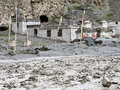 Ladakh flood Stock Photo