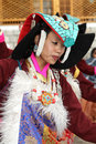 Ladakhi dancer girl Stock Images