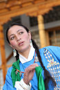 Ladakhi dancer girl Royalty Free Stock Photo