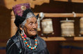 Ladakhi woman in monastery Royalty Free Stock Photography