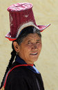 Ladakhi woman portrait 2 Stock Photo