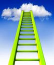 Ladder d illustration of an to the clouds Stock Image
