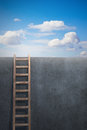 Ladder leading to freedom concept Stock Image