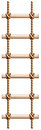 A ladder made of wood and rope illustration on white background Royalty Free Stock Images
