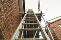 Ladder and scaffolding Royalty Free Stock Photo