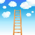 Ladder In Sky. Vector Stock Photos