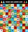 Ladder snakes game,Funny frame for children,Vector illustration