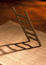 Ladder and stock index a Royalty Free Stock Photos