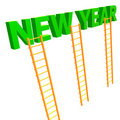 The ladder to 2010 new year Royalty Free Stock Images
