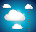 Ladder to cloud illustration design over a blue background Royalty Free Stock Photos
