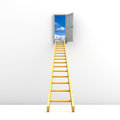 Ladder to the sky concept Royalty Free Stock Photos