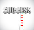 Ladder to success illustration design over a white background Stock Photo