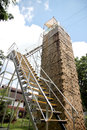 Ladders and high tower of outdoor activities Stock Image
