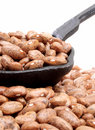 Laddle of pinto beans Royalty Free Stock Photo