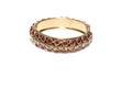 Ladies expandable bracelet against