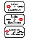 Ladies and gentlemens with lips and mustaches