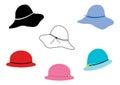 Ladies hats Royalty Free Stock Photo