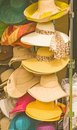 Ladies hats for summertime. Royalty Free Stock Photo