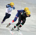 Ladies m heats short track heats sochi russia february arianna fontana ita no at at the sochi olympic games Stock Images