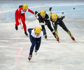 Ladies m heats short track heats sochi russia february elise christie gbr no at at the sochi olympic games Royalty Free Stock Photography