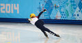Ladies m heats short track heats sochi russia february elise christie gbr no at at the sochi olympic games Stock Image