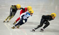 Ladies m heats short track heats sochi russia february jessica smith usa no at at the sochi olympic games Stock Image