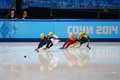 Ladies m heats short track heats sochi russia february jessica smith usa no at at the sochi olympic games Stock Images