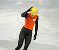Ladies m heats short track heats sochi russia february jorien ter mors ned no at at the sochi olympic games Royalty Free Stock Photos